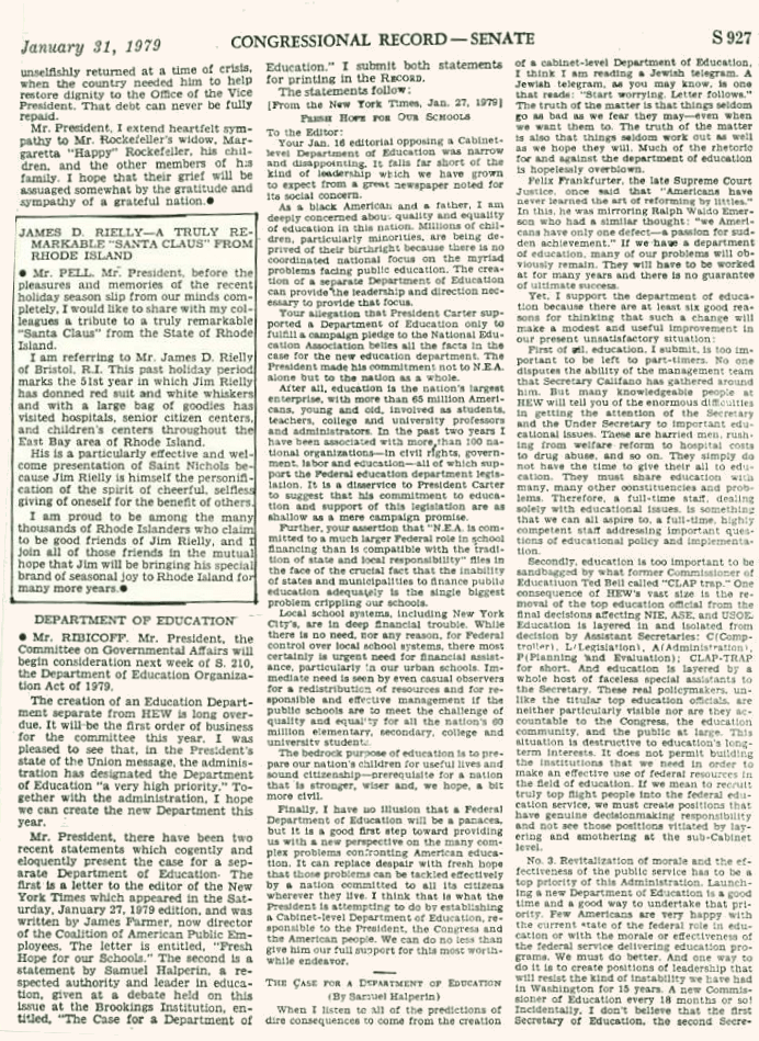 U.S. Congressional Record 1979